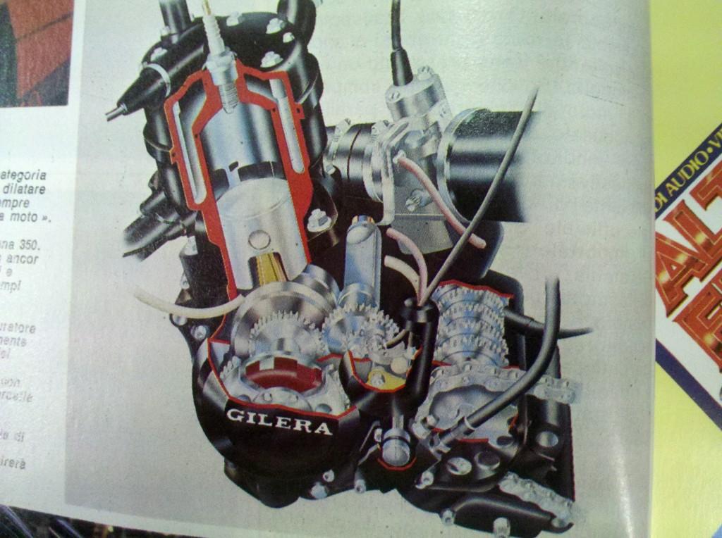 Il motore della RV 250 NGR