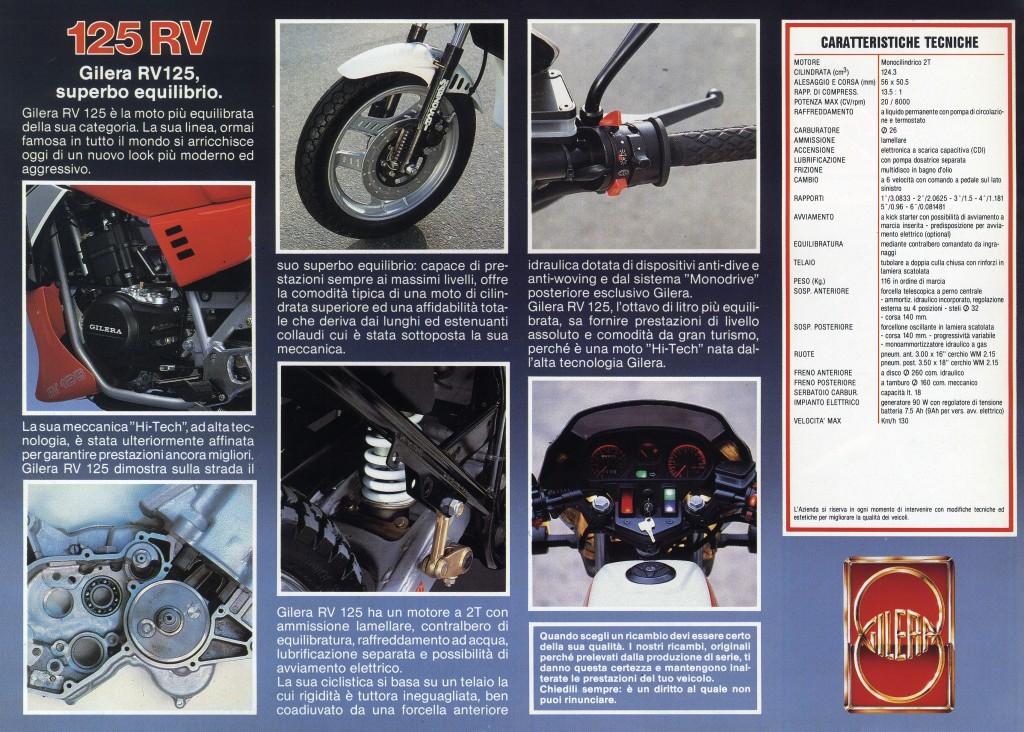 Gilera RV 125 scheda tecnica_Gilera 181_1009