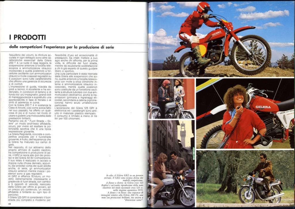 Rivista Piaggio 1980 storia Gilera