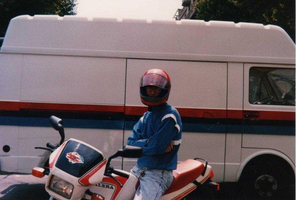 Stefano con la sua prima RV