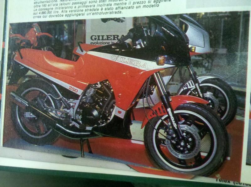 La RV 250 NGR al salone di Milano del 1985