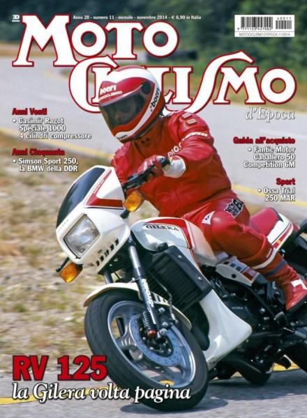 Paolo Tamburi sulla RV della prova di Motociclismo del 1984: è la copertina che Motociclismo d'Epoca ci dedica a novembre